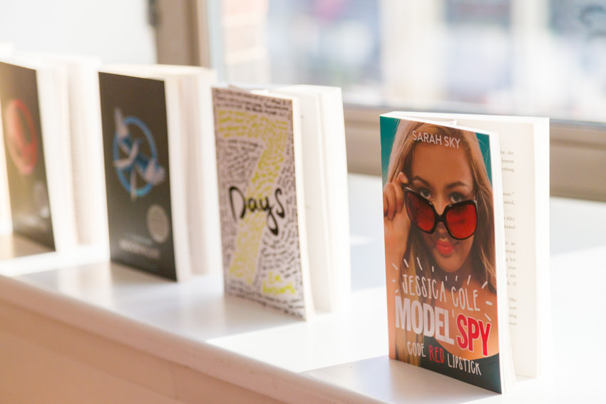 3 books on a window