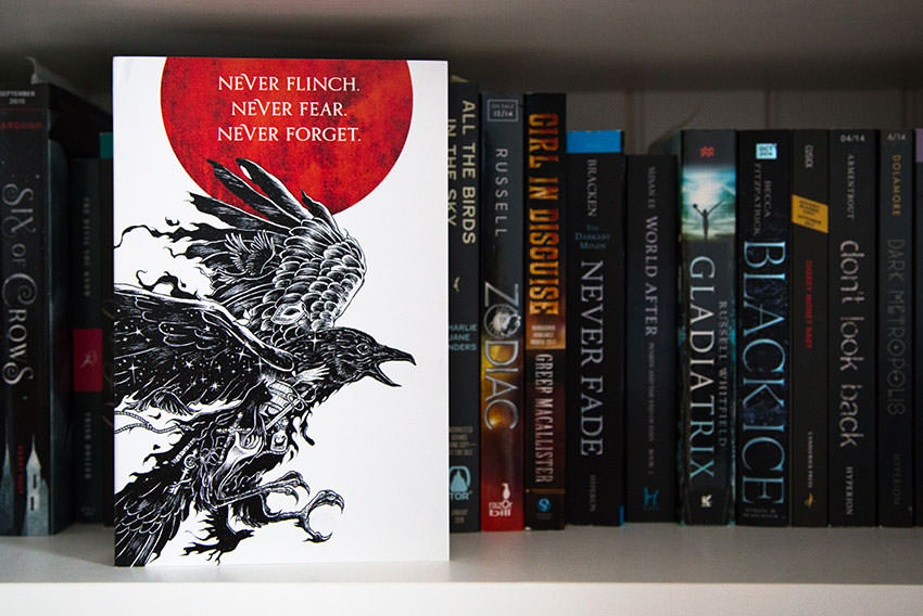 Nevernight on a bookshelf
