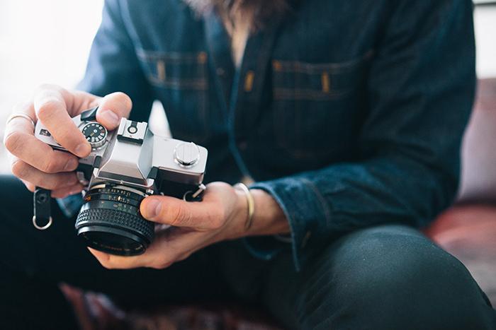 Guy holding a camera